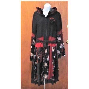 Boho long sweater coat Size M